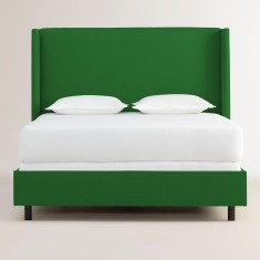 Green Wingback Bed