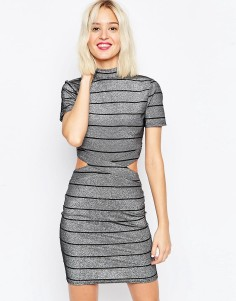 Striped Metallic Dress