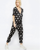 Printed Silk Jumpsuit