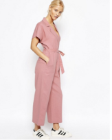 ASOS Pink Wrap Jumpsuit