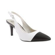 Black and White Slingbacks