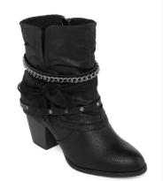 Stacked Chain Booties