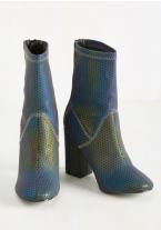 Iridescent Mid Calf Boots