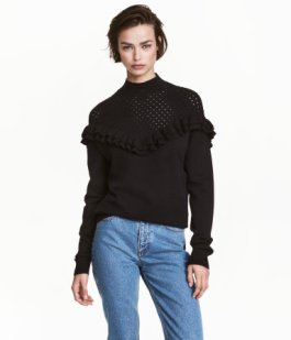 Ruffled Turtleneck
